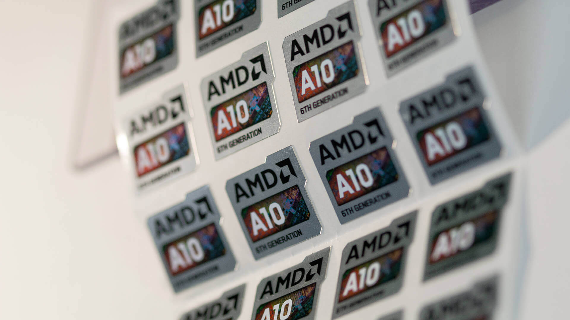 Sheets of AMD Brand Metallic Labels