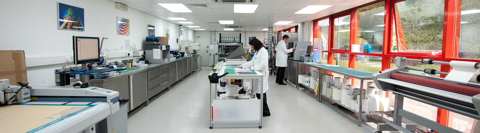 Research & Development Chemists in Our Design Centre Lab in East Kilbride, Scotland.