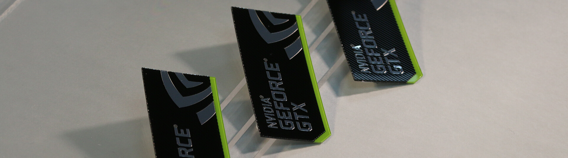 Nvida Geforce Brand Labels for Graphics Cards