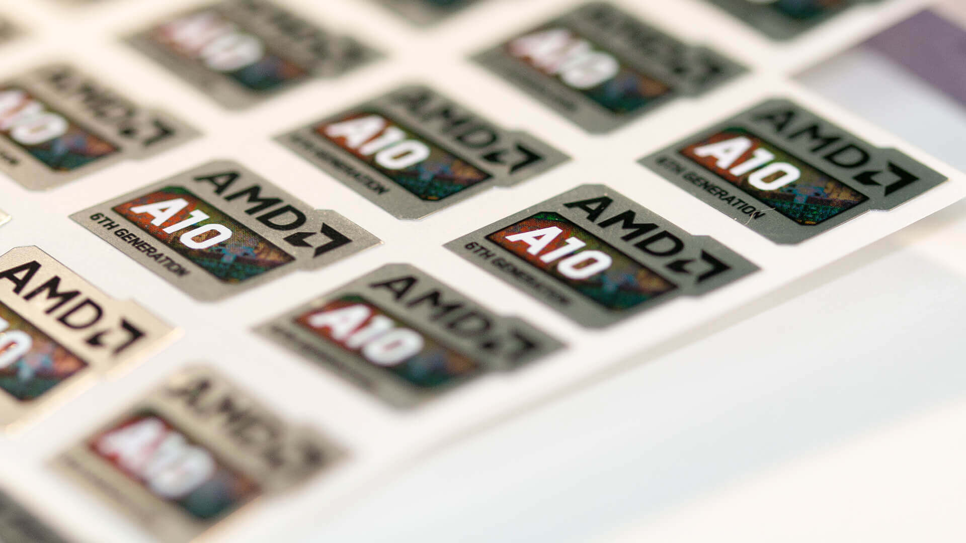 AMD Durable Laptop Labels