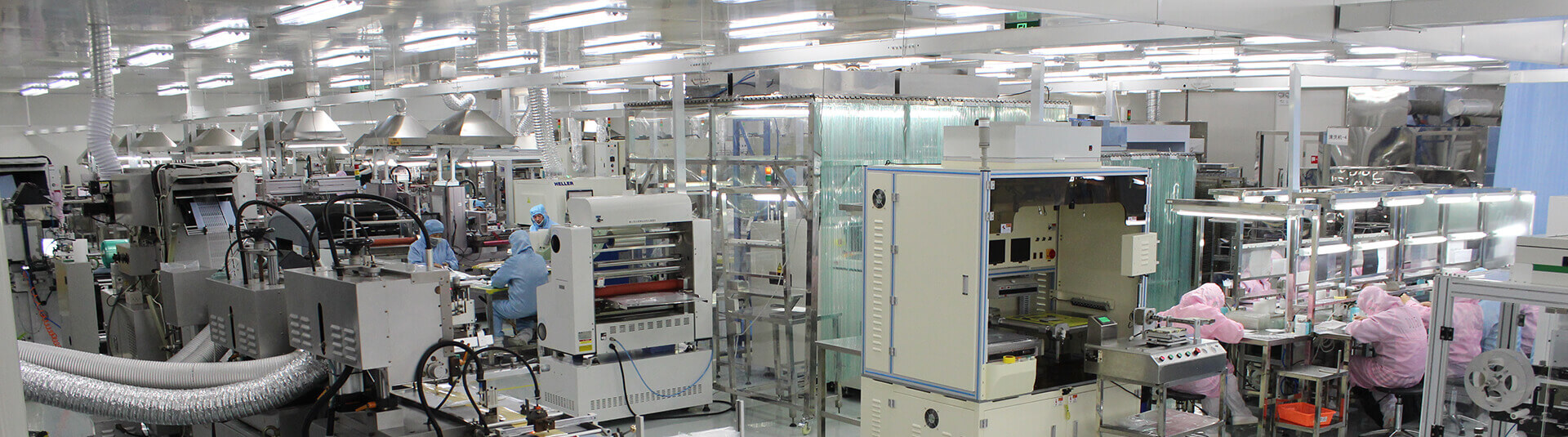 Clean room manufacturing in our building M facility in China
